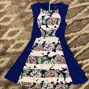 French Connection Blue and Floral Dress
